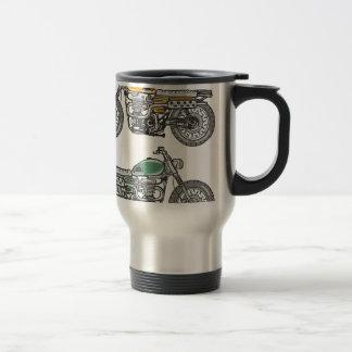 Retro Motorcycle Vector Sketch Travel Mug