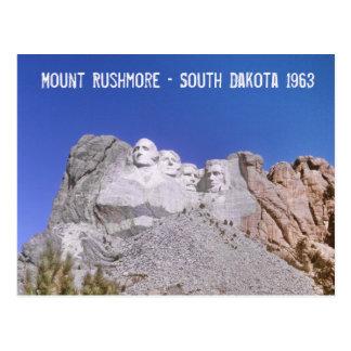Retro Mount Rushmore - South Dakota 1963 Postcard