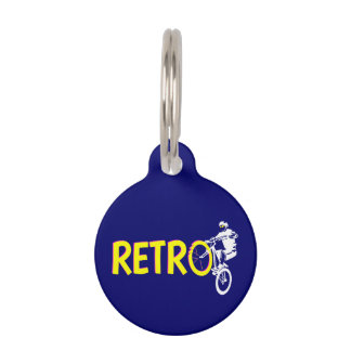 Retro Mountain Bike Wheel Stand Pet Nametags