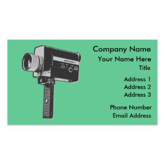 Retro Movie Camera Business Card
