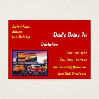Retro Movie Drive-In Business Card