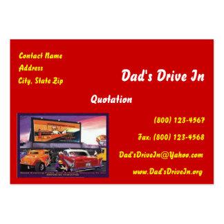 Retro Movie Drive-In Business Card