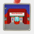 Retro Movie Theatre Christmas Ornament