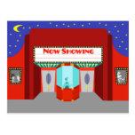 Retro Movie Theatre Postcard