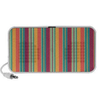Retro Multi Colored Stripes Speakers