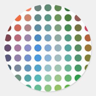 Retro multi spots stickers