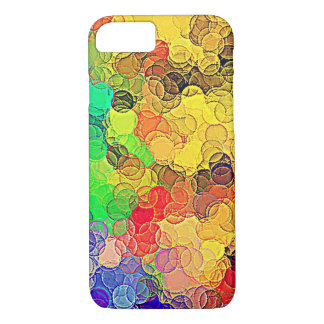 Retro Multicolored Circles Pattern iPhone 8/7 Case