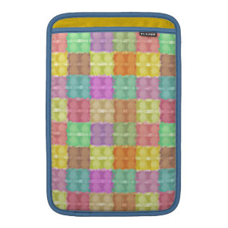 Retro Multicolored Square Pattern MacBook Air Sleeve