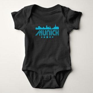 Retro Munich Skyline Baby Bodysuit