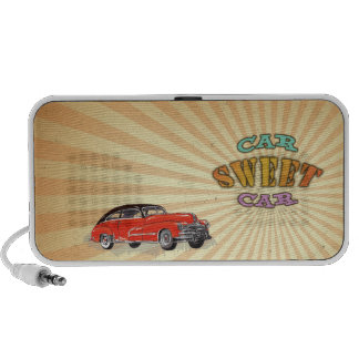 Retro Muscle Car Sweet Car with Vintage design | Notebook Speaker