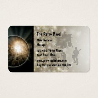 Retro Music Band Business Card