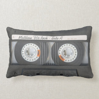 Retro Music Cassette Mix Tape Look Custom Text Pillow