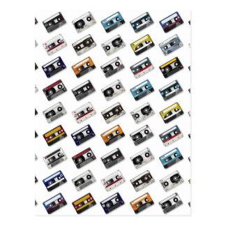 Retro Music Cassette Tapes Postcards