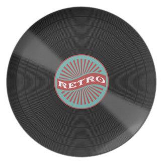 Retro music disc plates