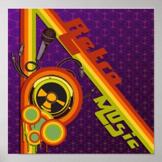 retro music funky vector art poster