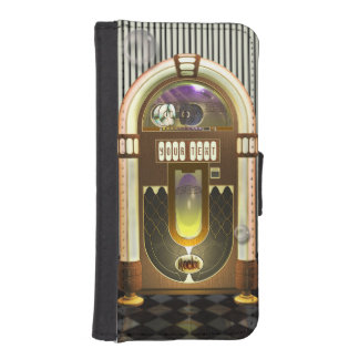 Retro Music Jukebox Personalized iPhone 5 Wallet Cases