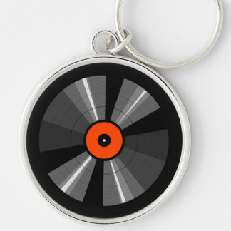 Retro Music  LP Vinyl Record Keychain