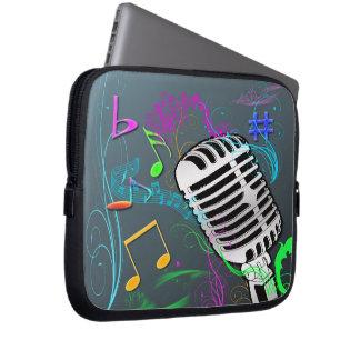 Retro Music Neoprene Electronics Bag Laptop Sleeves