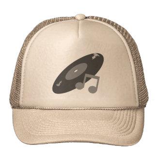 Retro Music Record & Note Grey Trucker Hat