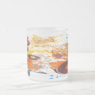 Rétro musique des années 80 mug en verre givré