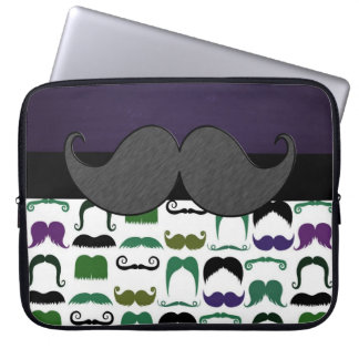 Retro Mustache Laptop Sleeve