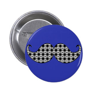 Retro Mustache Moustache Stache 2 Inch Round Button