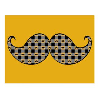 Retro Mustache Moustache Stache Postcard