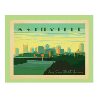 Retro Nashville Postcard