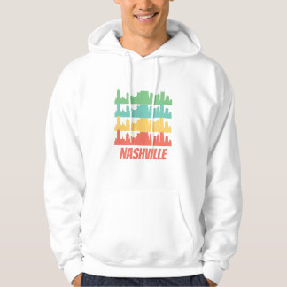 Retro Nashville TN Skyline Pop Art Hoodie