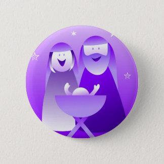 Retro Nativity 2 Inch Round Button