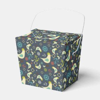 Retro Nautical Seagull Seaside Design Boxes Favor Box