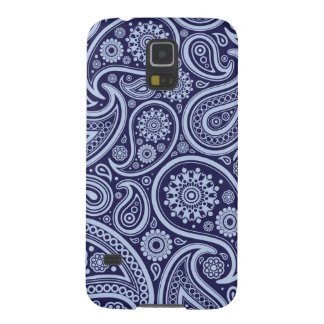 Retro Navy Blue Paisley Pattern Galaxy S5 Cover