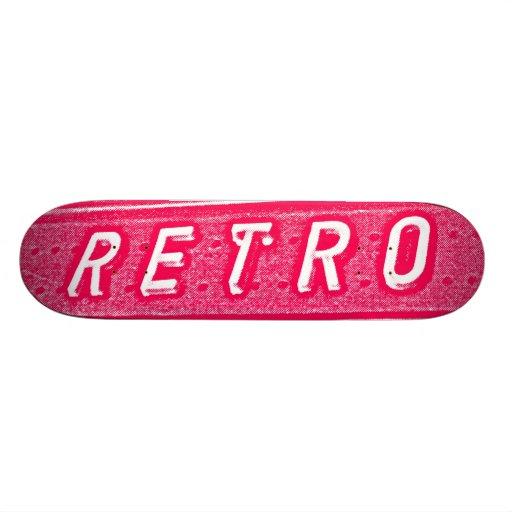 Retro - Neon Red and White Skate Decks