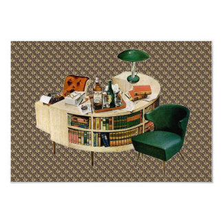 """Retro New Home and Change of Address 3.5"""" X 5"""" Invitation Card"""