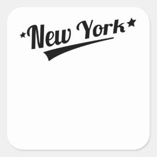 Retro New York Logo Square Sticker