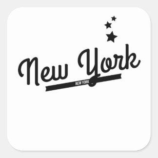 Retro New York Logo Square Stickers