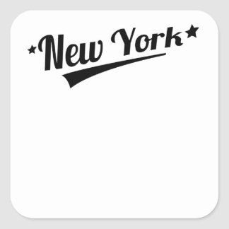 Retro New York Logo Stickers
