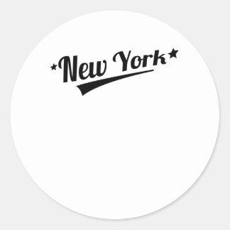 Retro New York Logo Round Sticker
