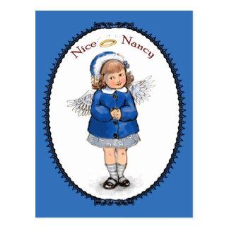 Retro Nice Nancy Postcard