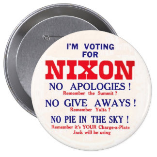 Retro Nixon Anti-JFK Button