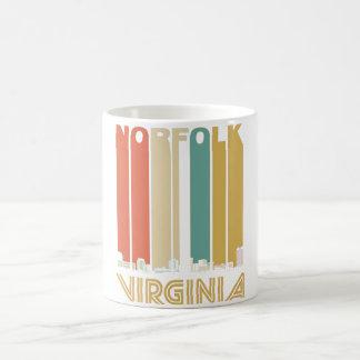 Retro Norfolk Virginia Skyline Coffee Mug
