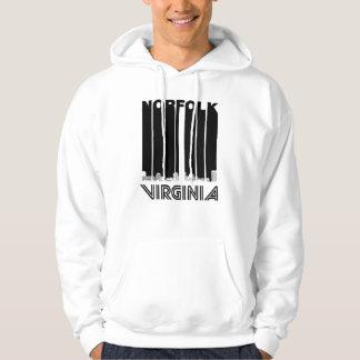 Retro Norfolk Virginia Skyline Hoodie