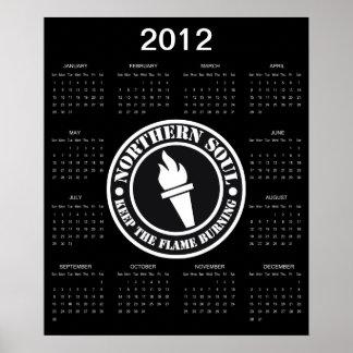 Retro Northern Soul 2012 calendar Poster