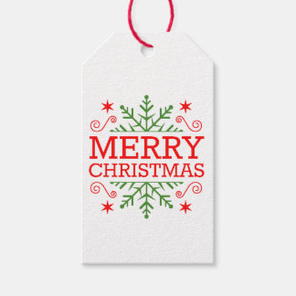 Retro Nostalgic Merry Christmas Pack Of Gift Tags