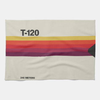 Retro nostalgic music lover cassette graphic hand towel