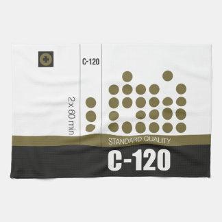 Retro nostalgic music lover cassette graphic kitchen towel