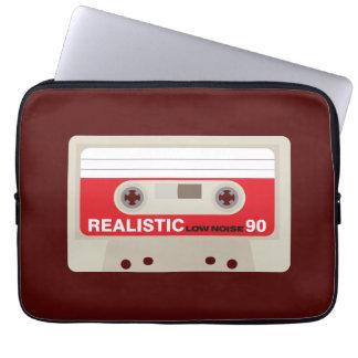 Retro nostalgic music lover cassette graphic laptop sleeve