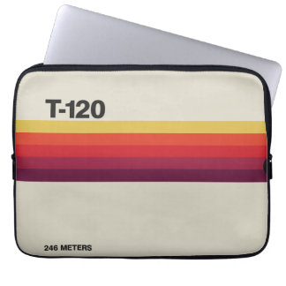 Retro nostalgic music lover cassette graphic laptop sleeve
