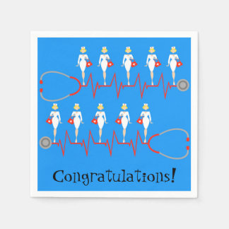 Retro Nurse Congratulations Paper Napkins