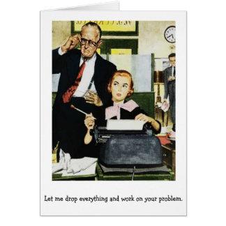 Retro Office - A Demanding Boss, Card